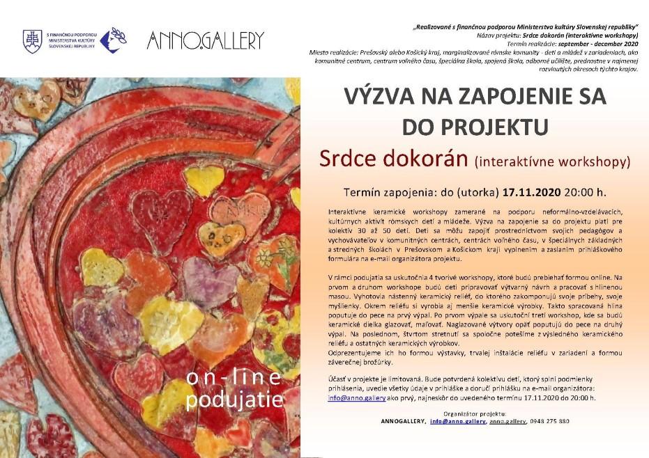 Srdce dokorán (interaktívne workshopy) 2020